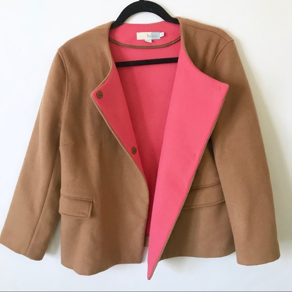 Boden Jackets & Blazers - Boden Camel Coat With Pink Lining